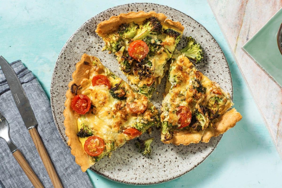 Quiche met broccoli en oude kaas