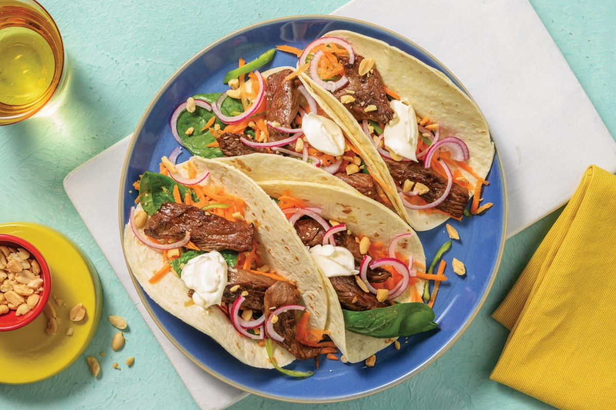 Honey-Soy Beef Tacos