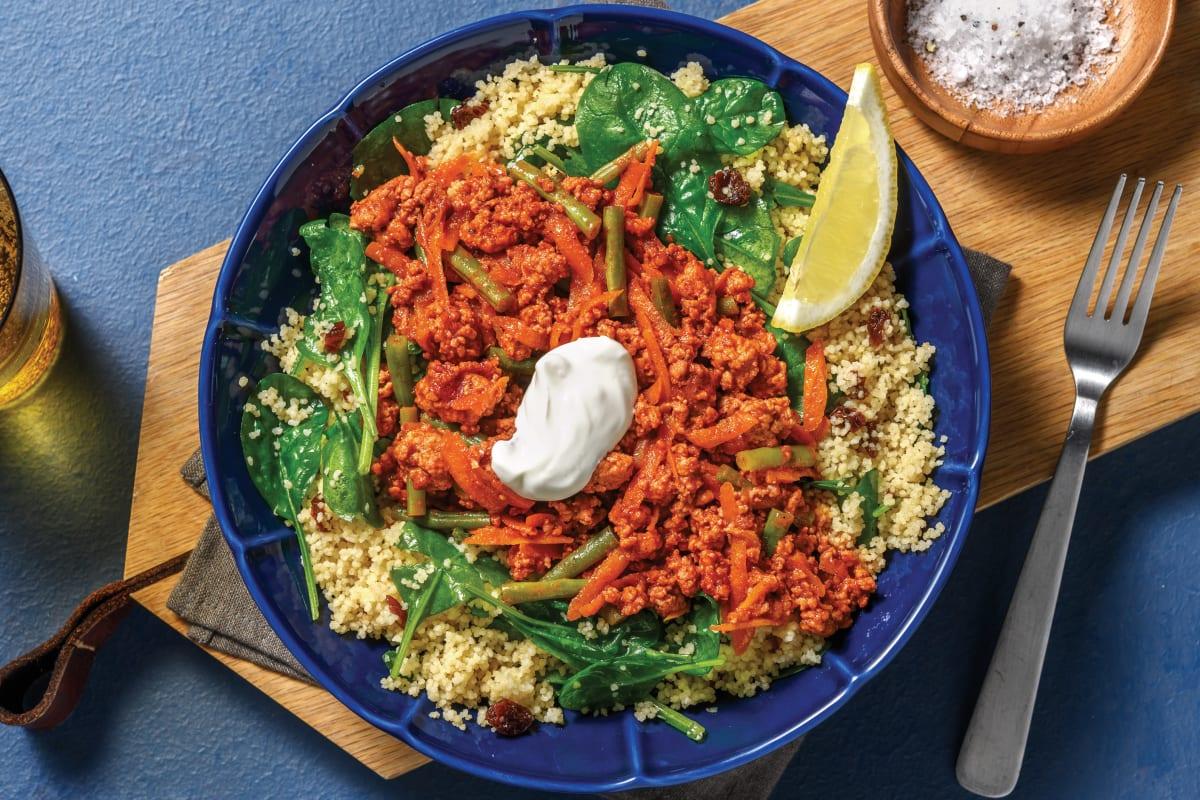 Quick Moroccan-Style Pork & Veggies