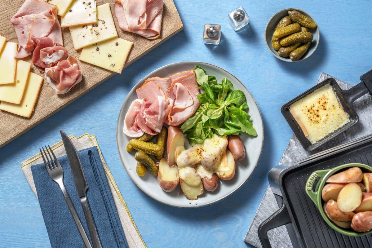 Raclette Party RichesMonts & charcuterie