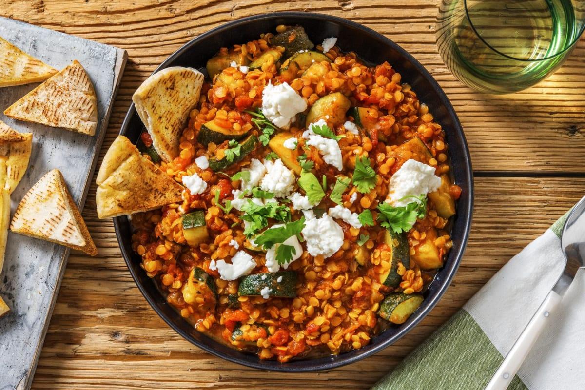 Harira-Style Lentil Veggie Stew