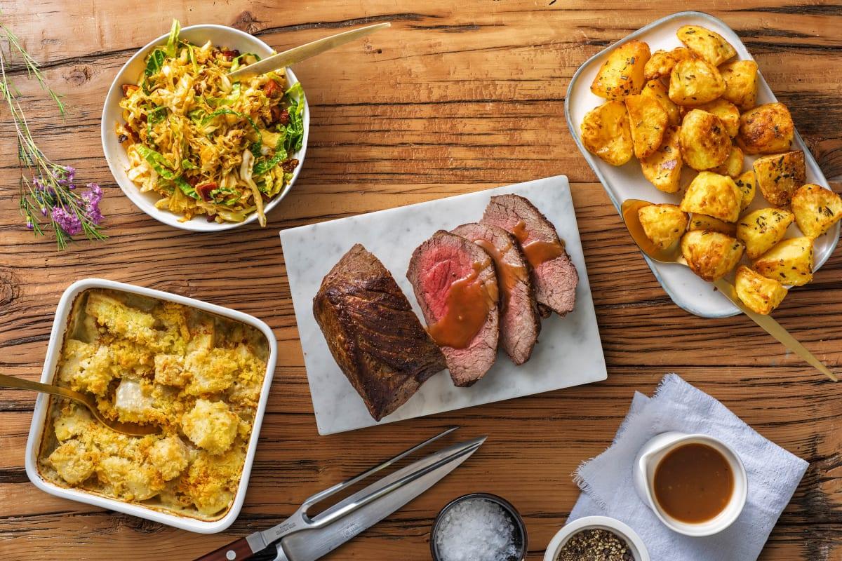 Roast Beef & Redcurrant Gravy