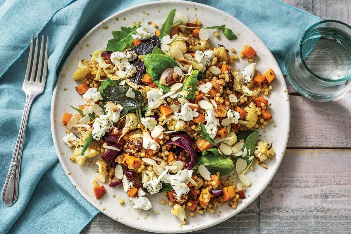 Spiced Cauliflower & Goat Cheese Salad