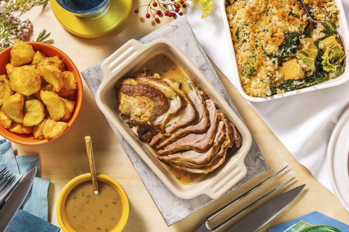 Roast Lamb and Rosemary Gravy