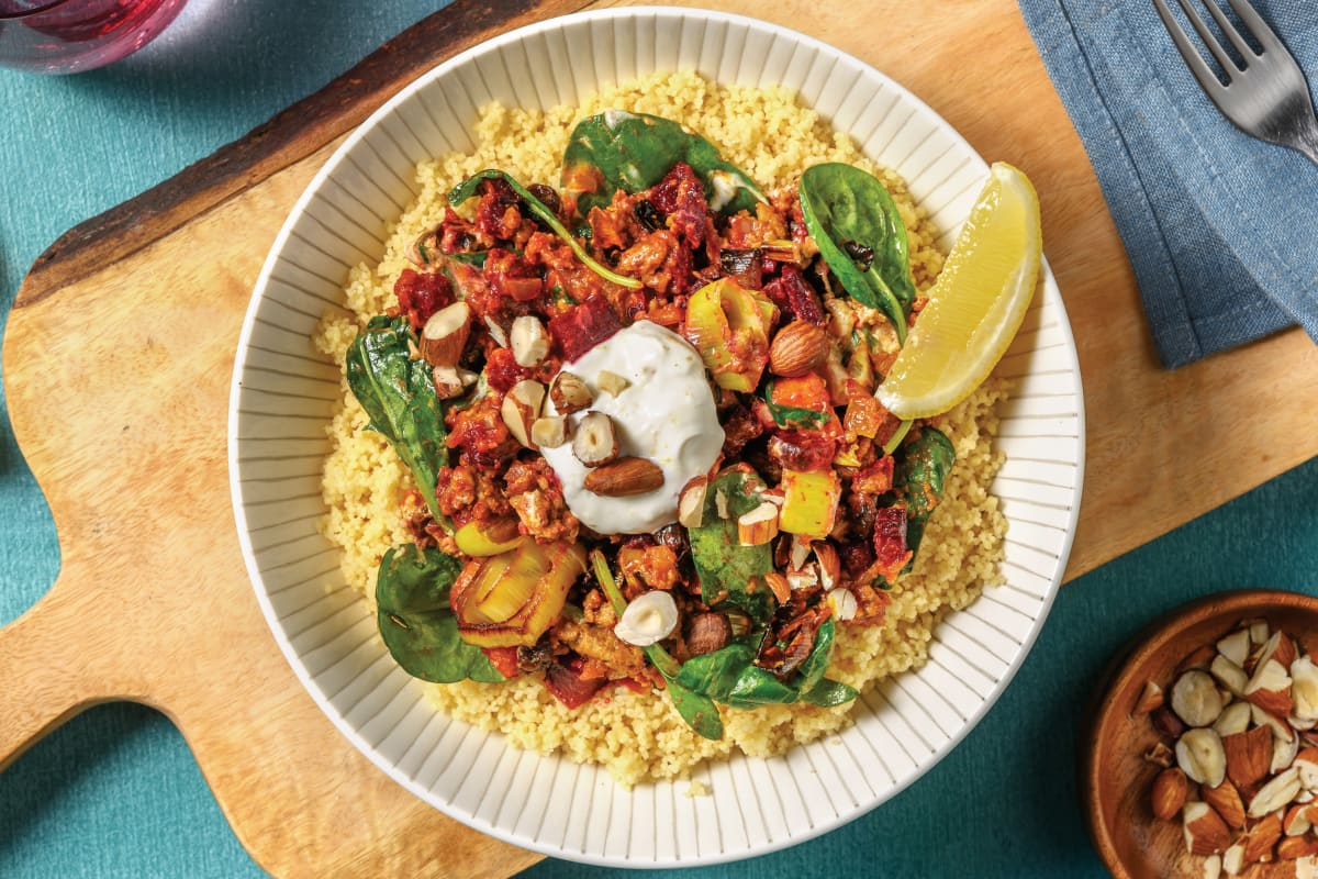 Roast Veggie & Beef Tagine Couscous Bowl