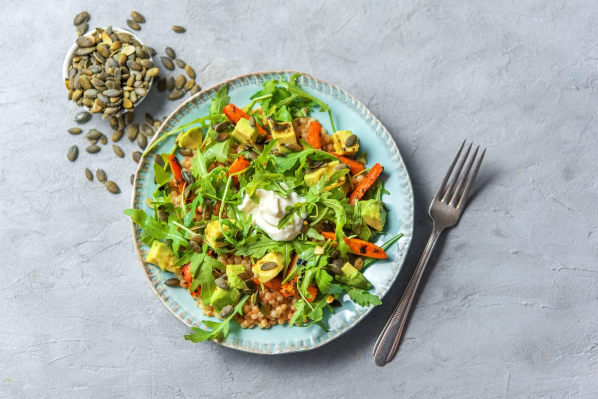 Cumin-Roasted Carrot and Avocado Salad