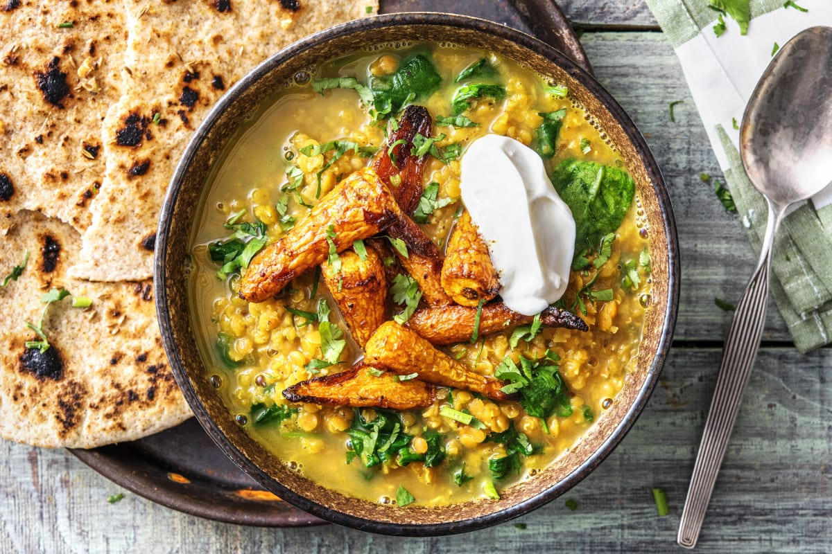 Roasted Carrot Dal
