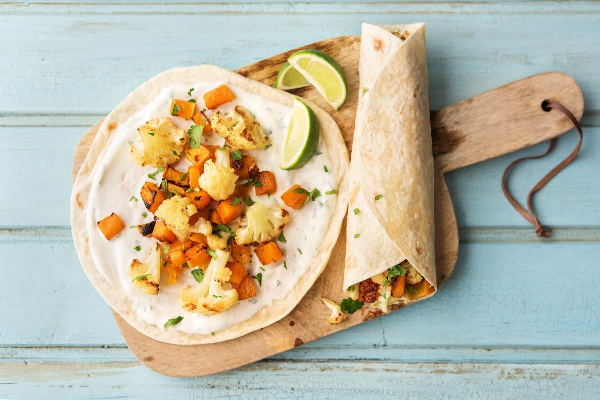 Roasted Cauliflower and Squash Tacos