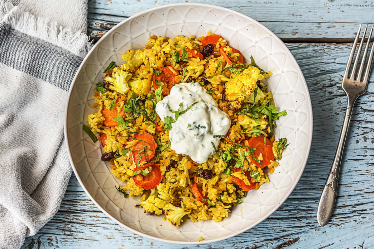 Roasted Cauliflower Biryani