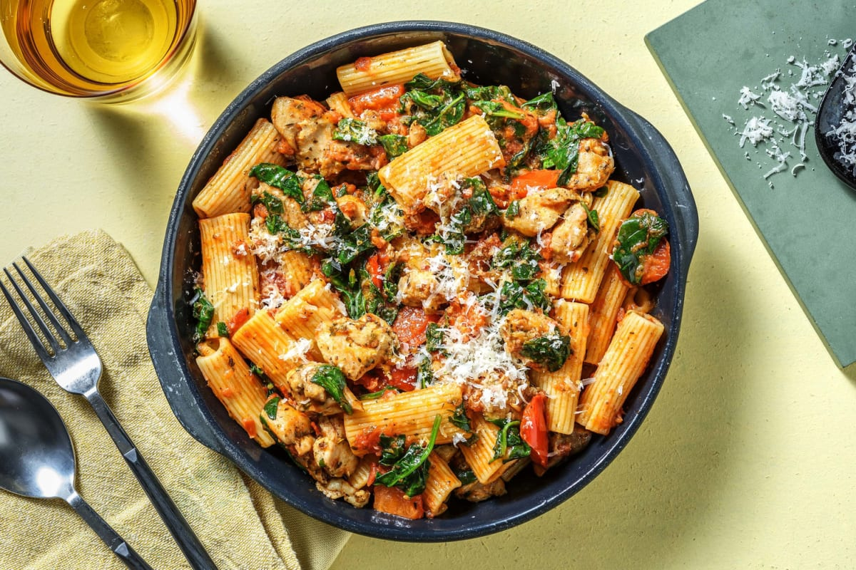 Roasted Garlic and Chicken Rigatoni