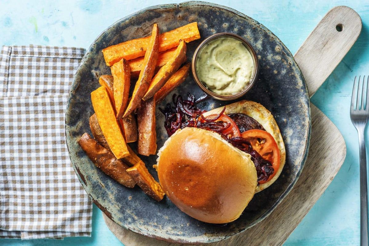 Roasted Portobello Sandwich
