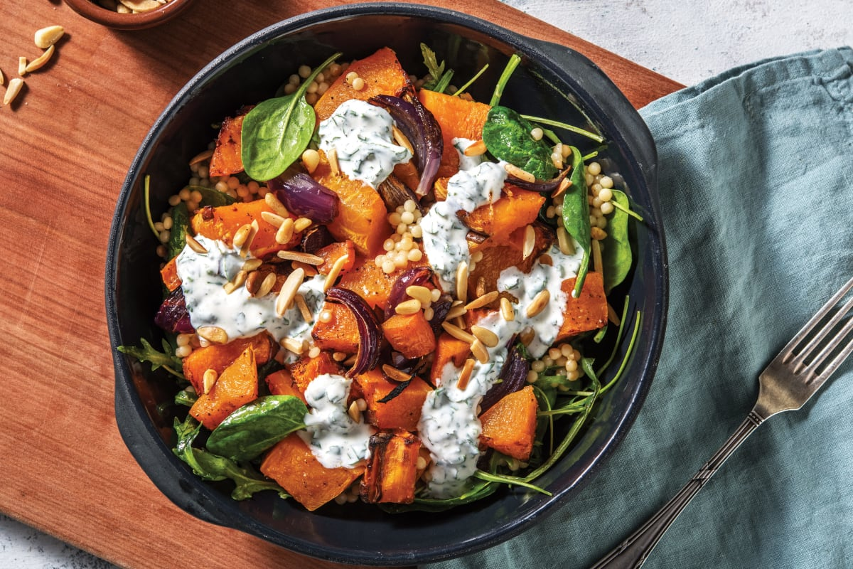 Roasted Pumpkin Pearl Couscous Salad Recipe Hellofresh