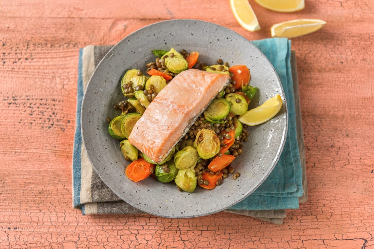 Bistro Salmon and Lentils