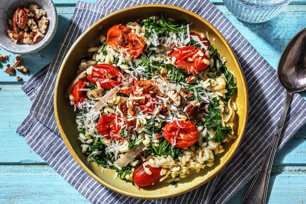 Roasted Tomato and Kale Risotto
