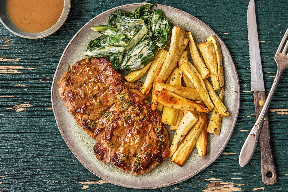 Rosemary and Butter-Basted Steak