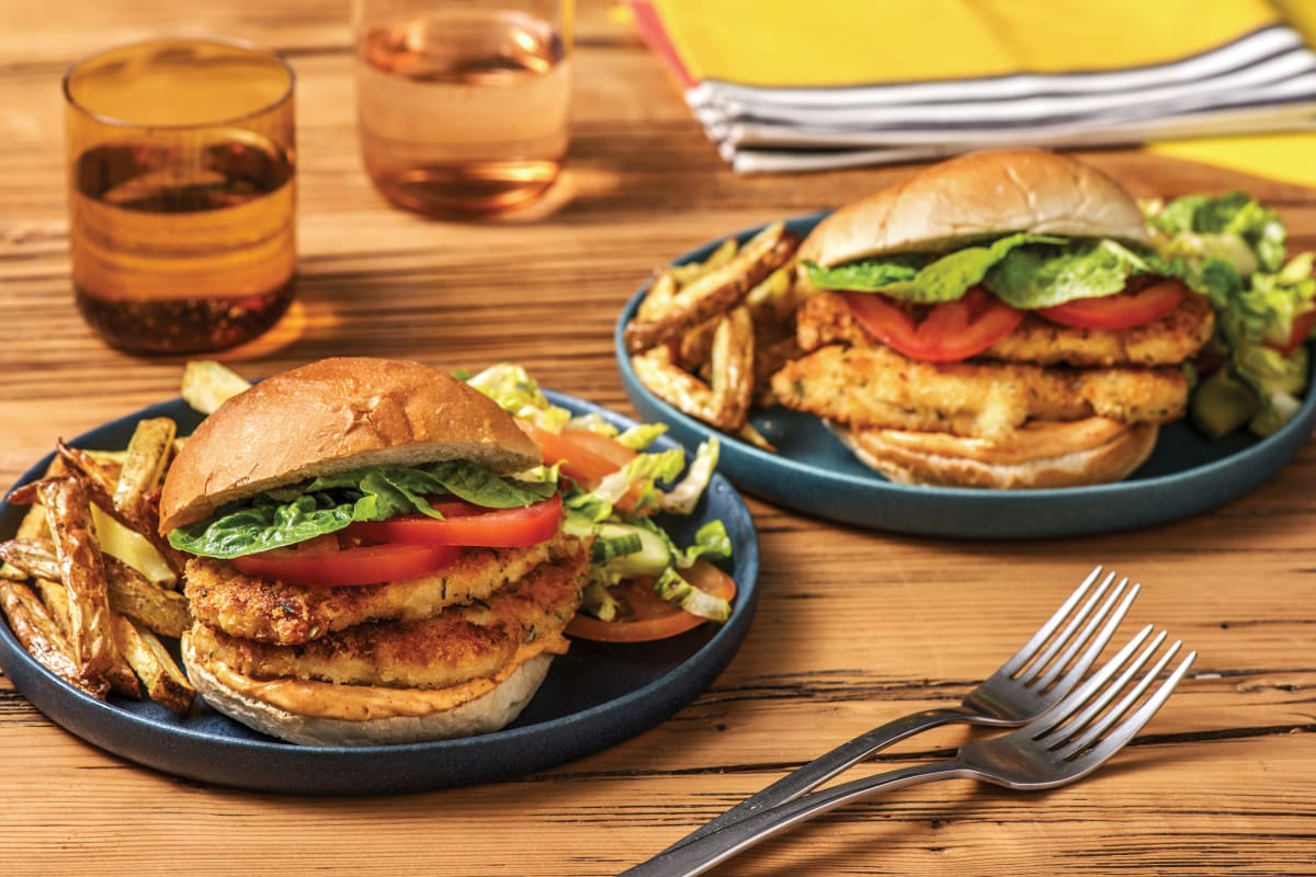 Rosemary & Parmesan Crumbed Chicken Burger