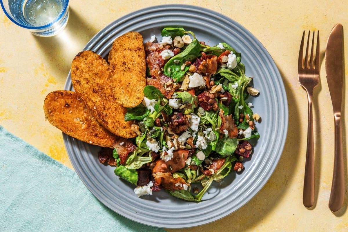 Rote-Beete-Salat mit Ziegenkäse und Bacon