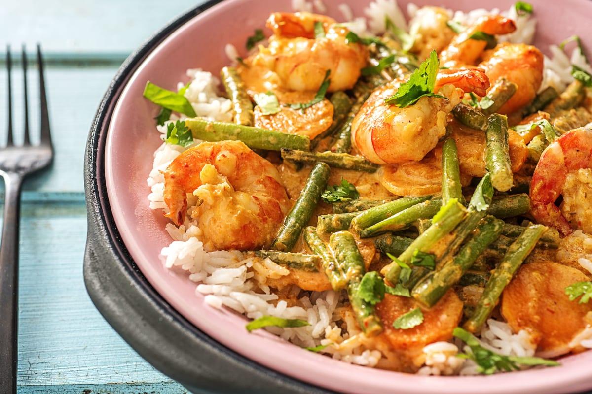 Rotes Crevetten-Thai-Curry