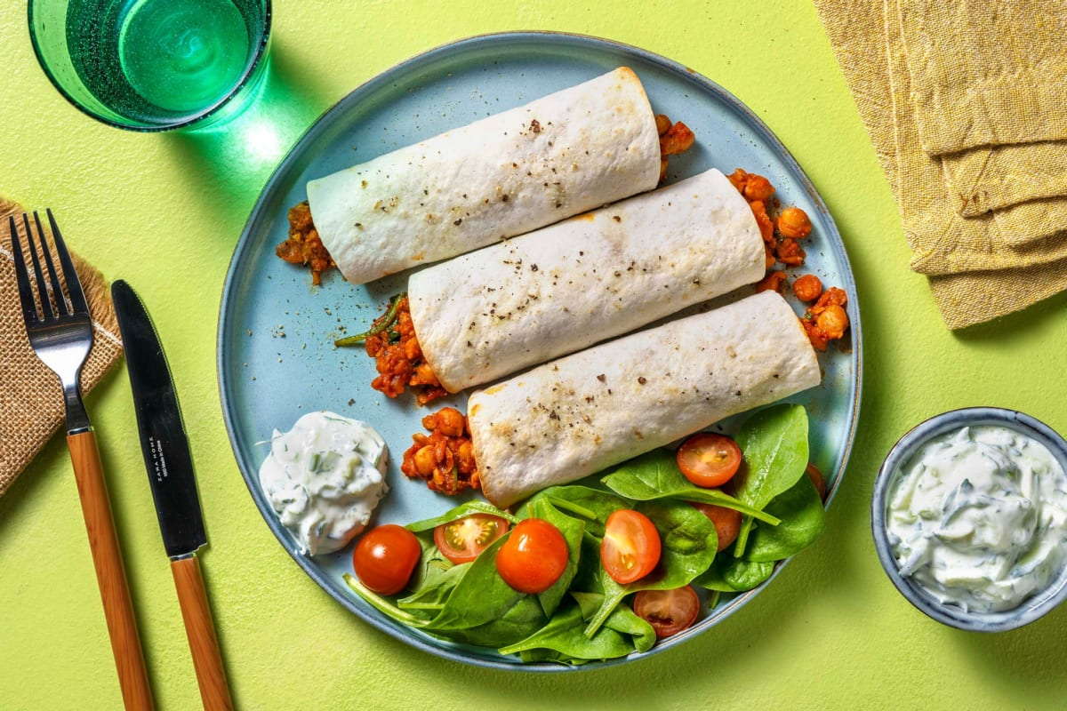 Spiced Chickpea Wraps