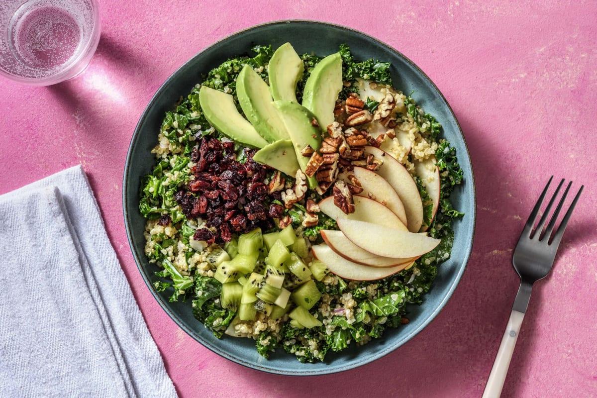 Salade californienne au quinoa, chou kale & avocat