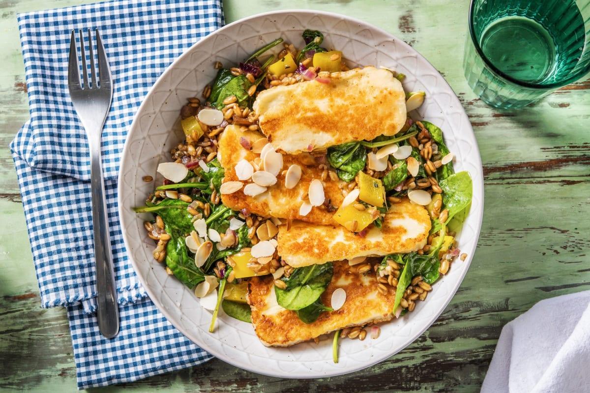 Farro and Halloumi Salad