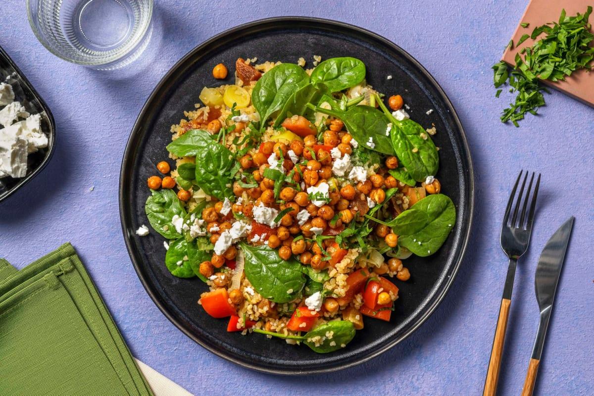 Roasted Chickpea and Bulgur Salad