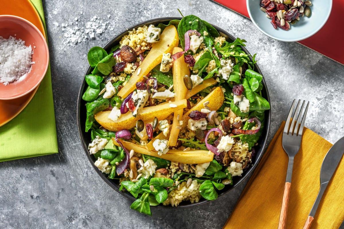 Volkoren couscous met blauwe kaas