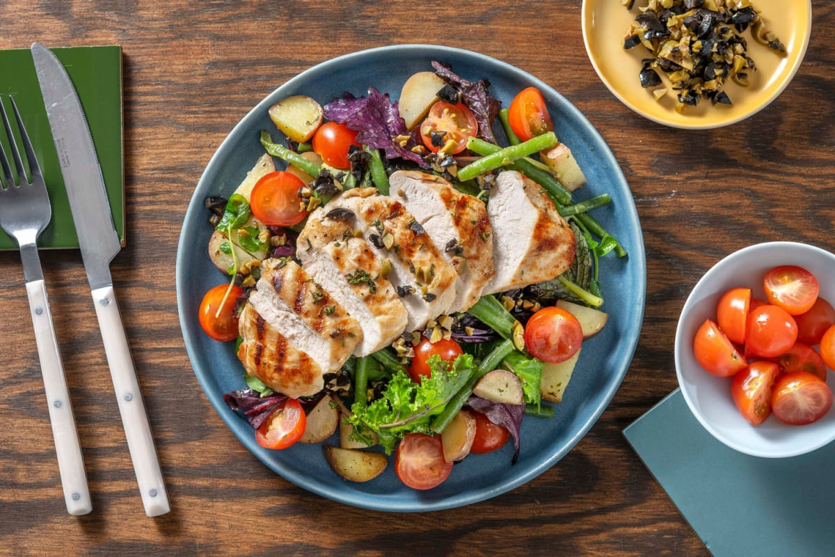 Herby Grilled Chicken Niçoise Salad