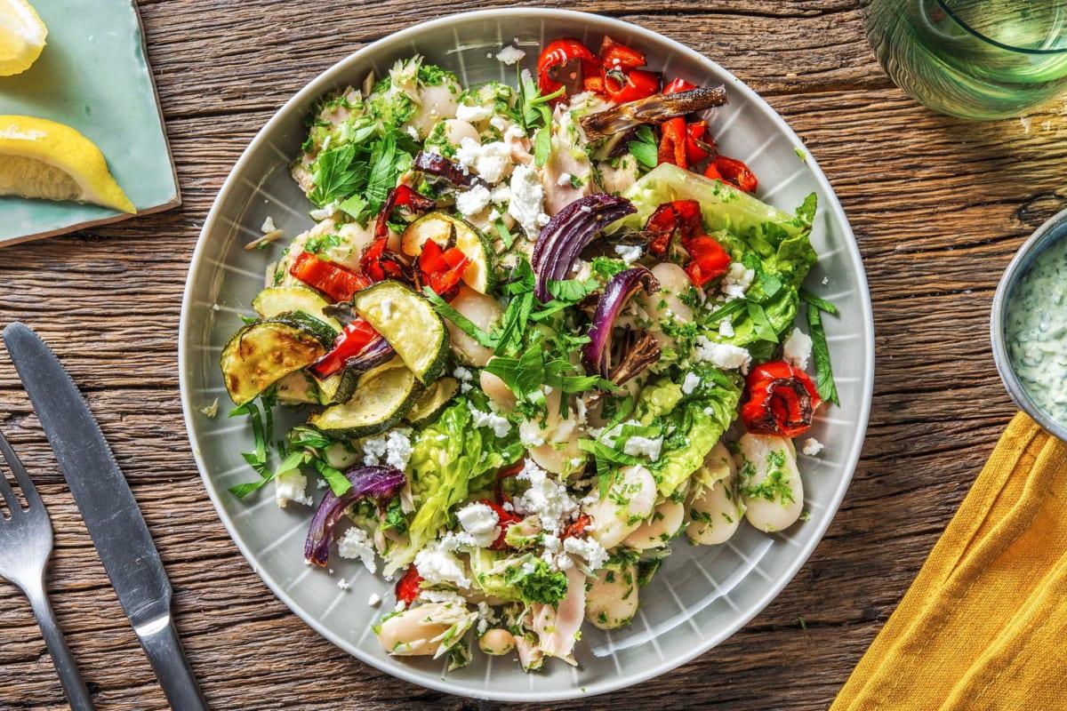 Salat mit Thunfisch und Butterbohnen