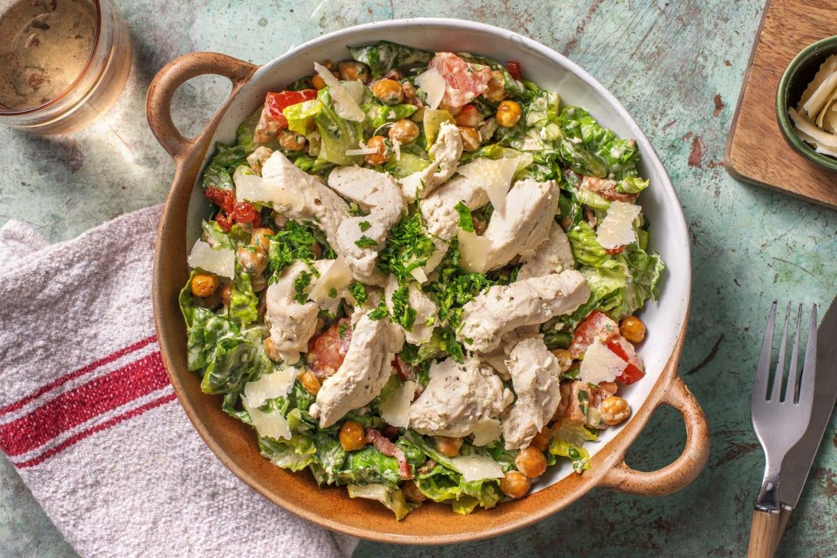 Salat nach Caesar-Art mit Kichererbsen