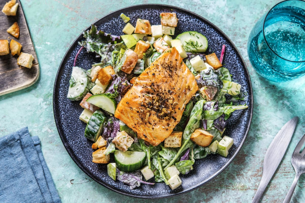 Salmon, Cucumber and Apple Salad