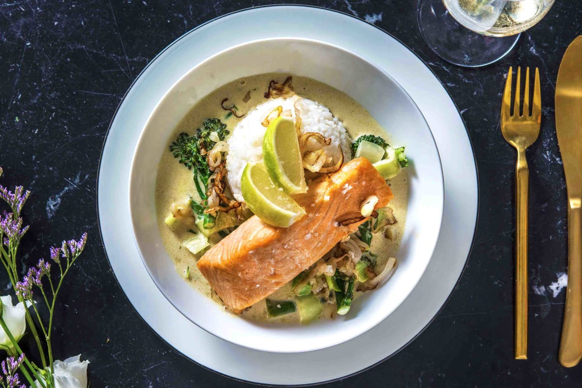 Salmon Thai-Style Green Curry