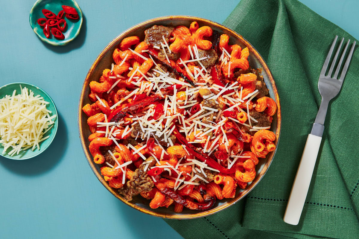 Sausage and Roasted Bell Pepper Pasta