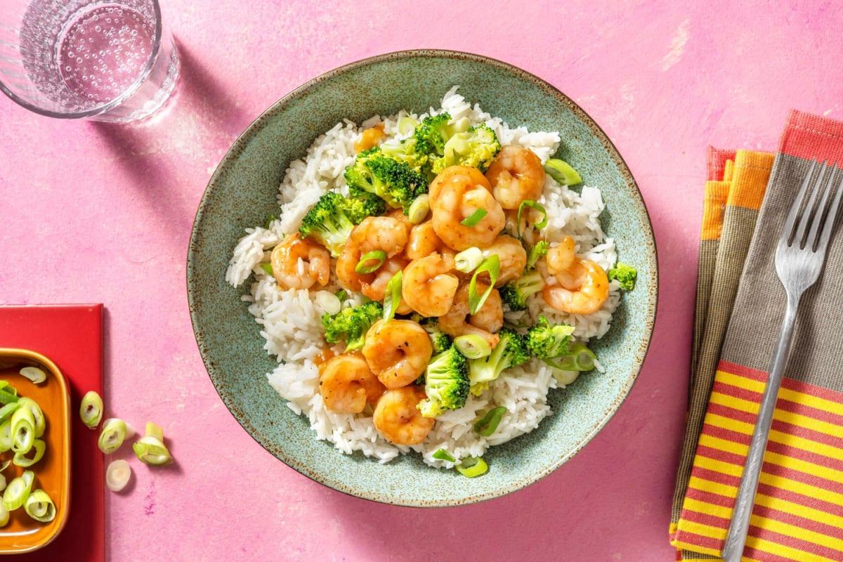 Honey Shrimp and Broccoli Stir-Fry
