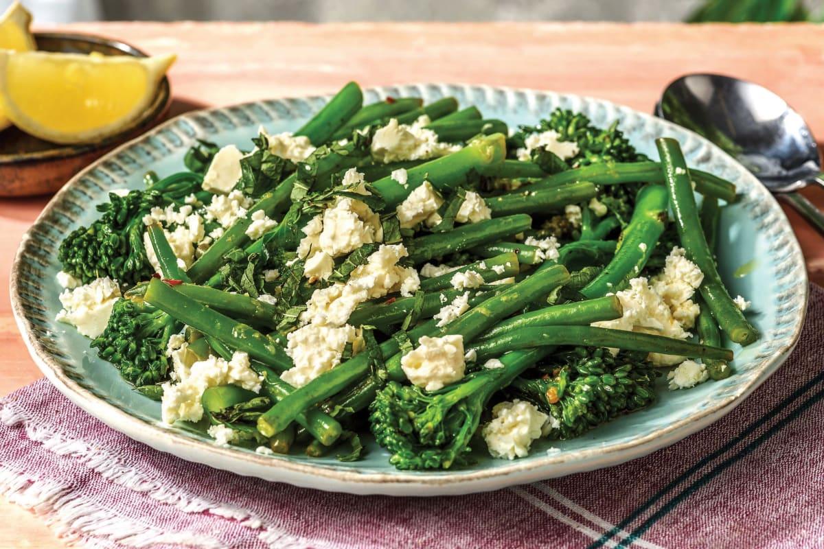 Sauteed Garlic Broccolini & Green Beans