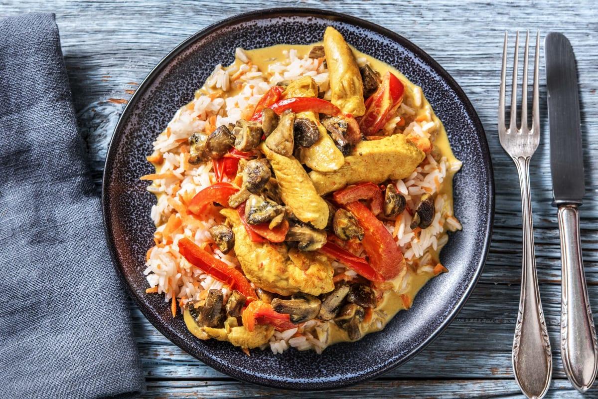 Scharfes Hähnchen-Kokos-Curry