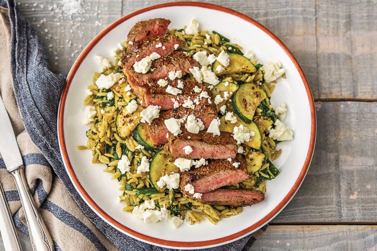 Seared Beef & Easy Green Risoni