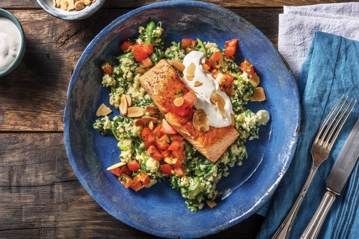 Seared Salmon & Herbed Couscous