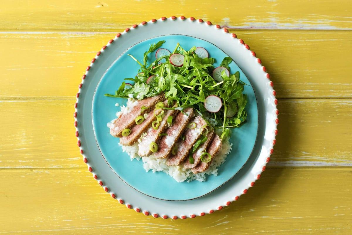 Seared Sesame Tuna over Rice