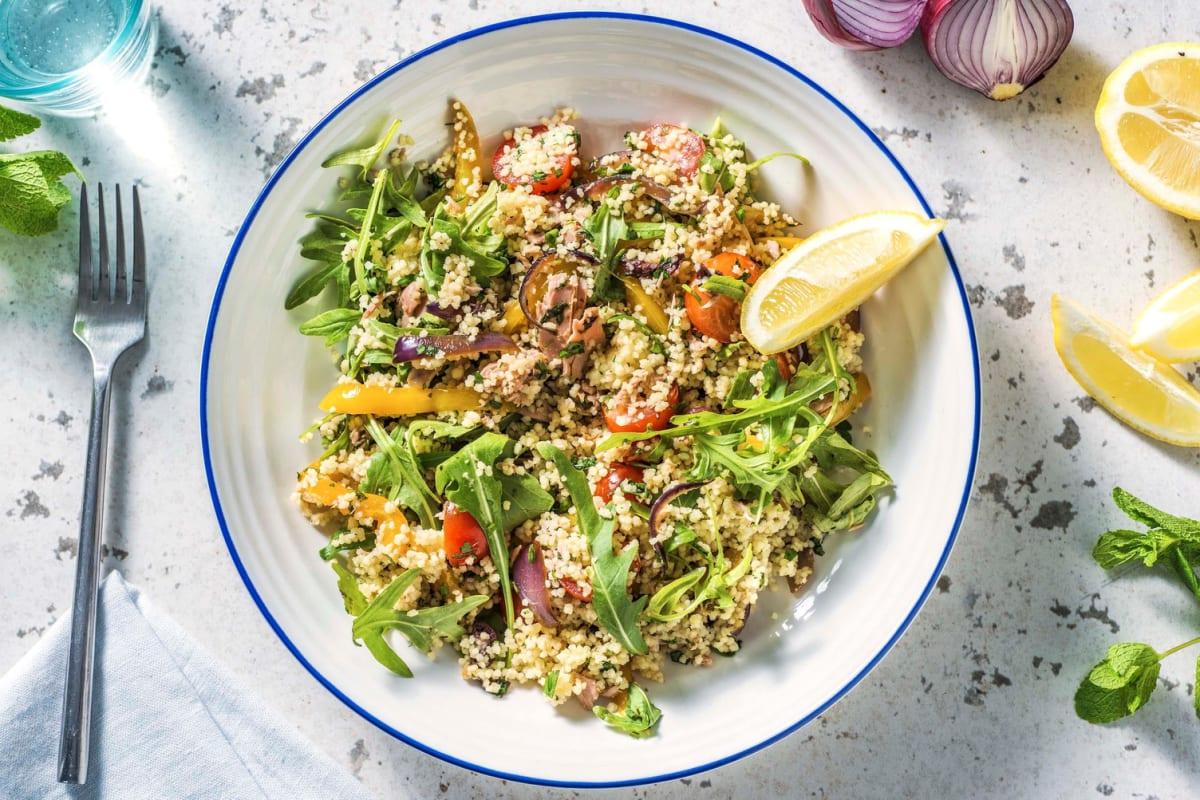 Mediterrane couscous met tonijn