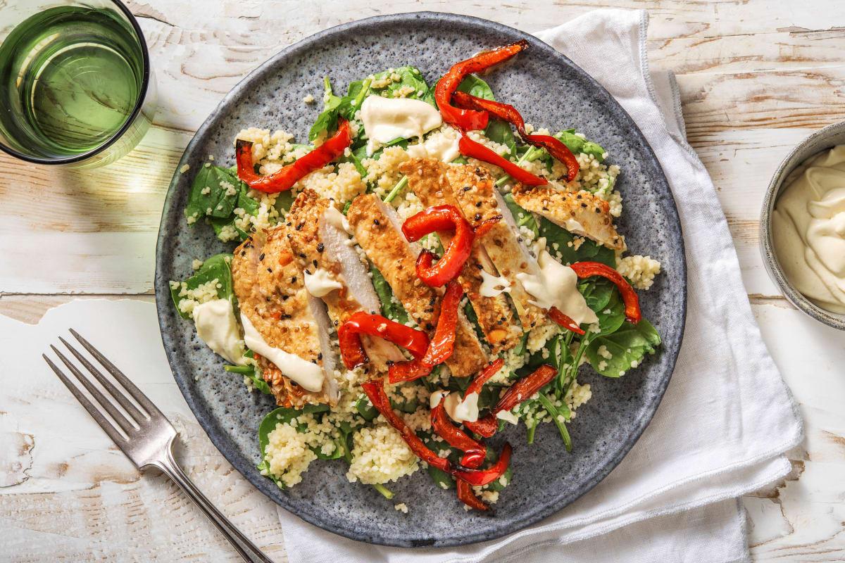 Sesam- och vitlöksmarinerad kyckling