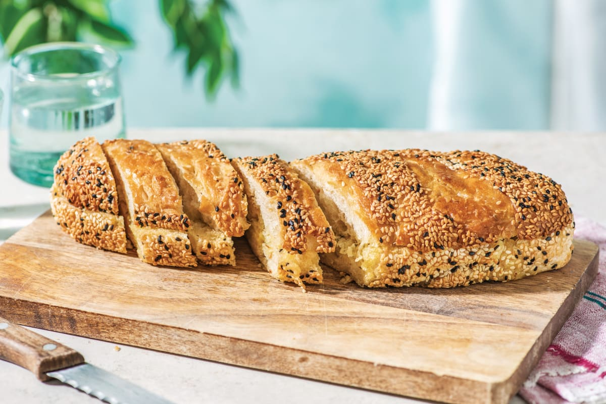Sesame-Crusted Garlic Bread