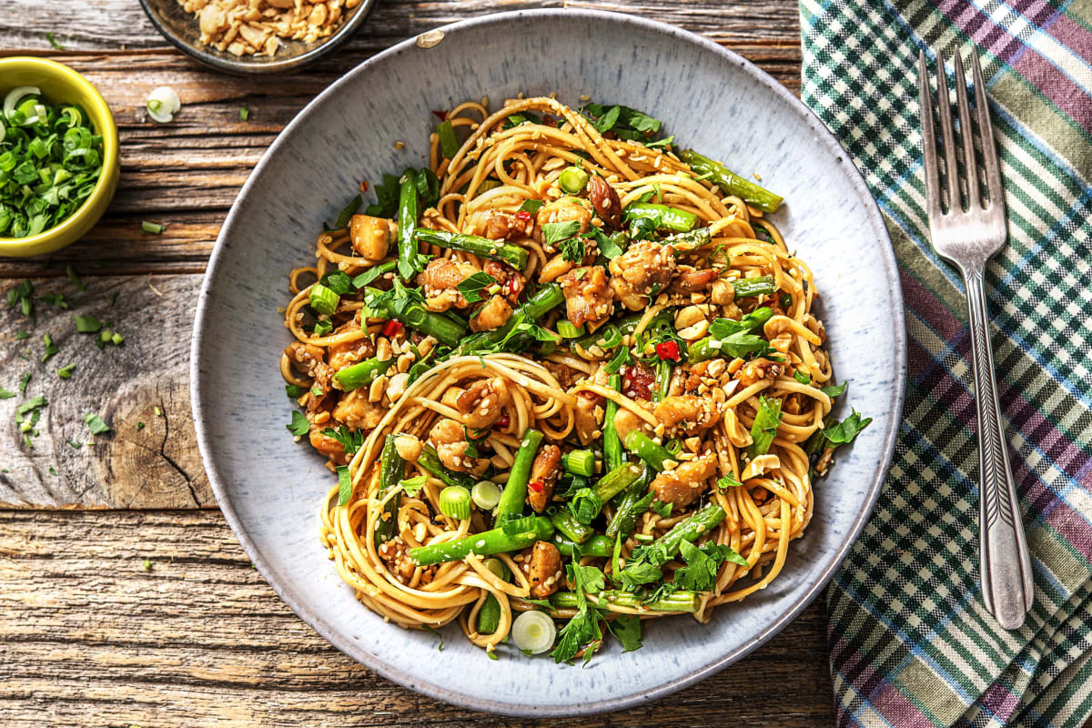 Sesame Ginger Chicken With Noodles Recipe Hellofresh