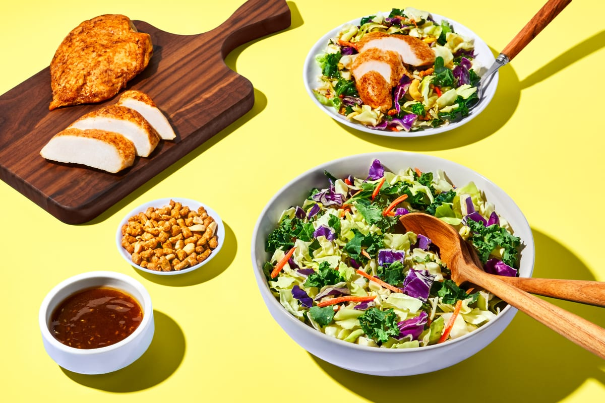 Sesame Salad & Fully Cooked Chicken