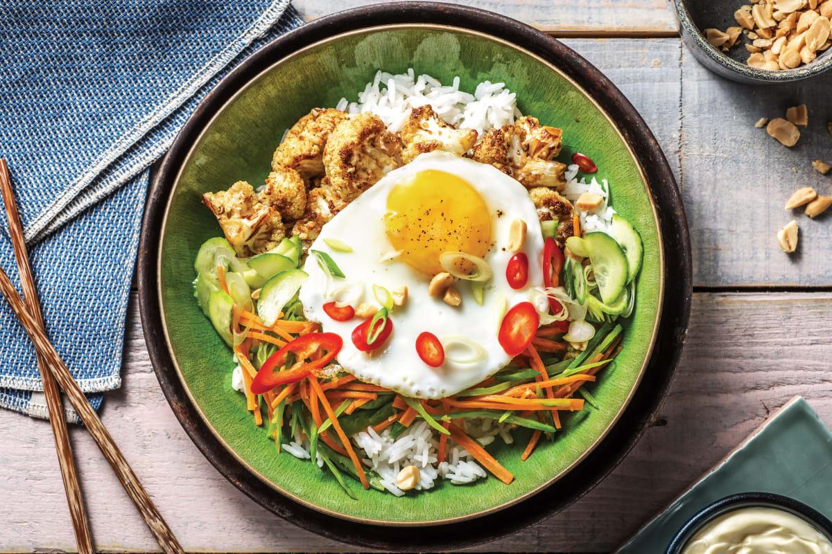 Sesame-Soy Cauliflower Rice Bowl