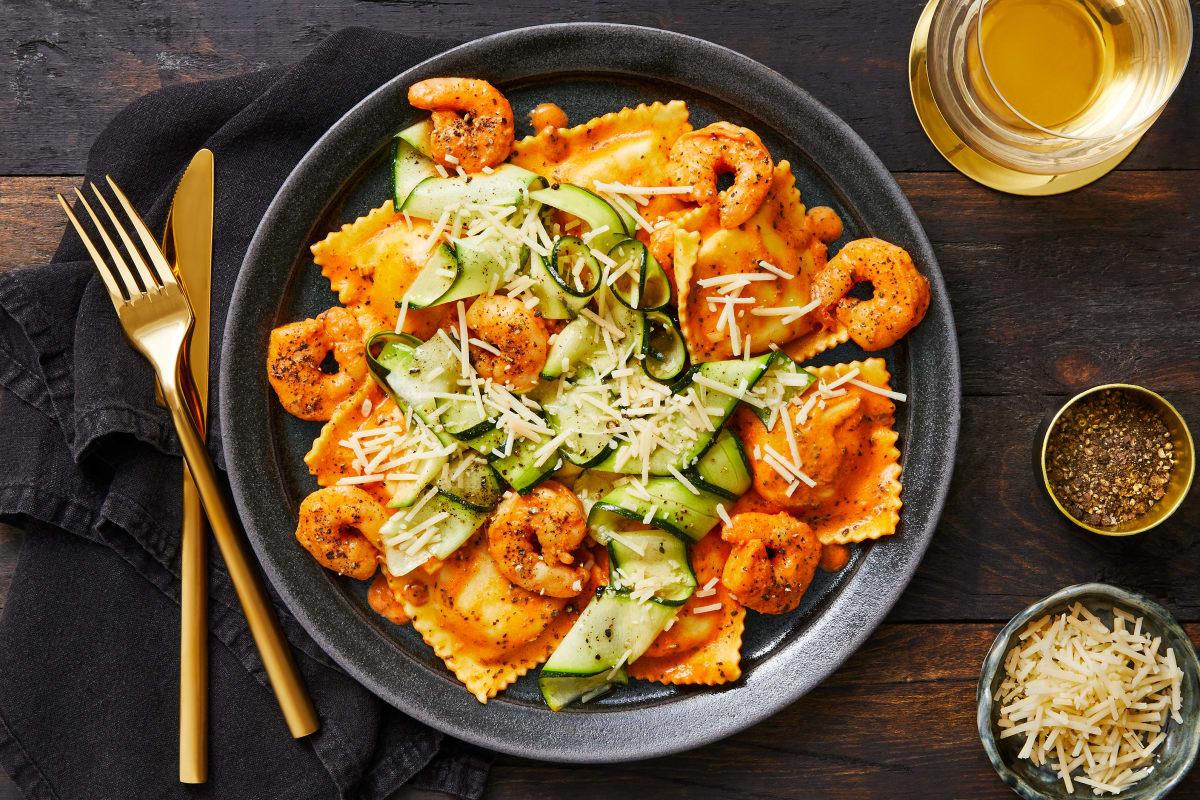 Shrimp with Lobster Ravioli