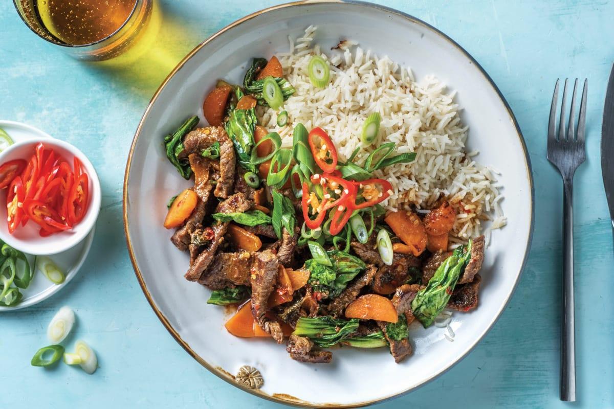 Sichuan Beef & Asian Greens