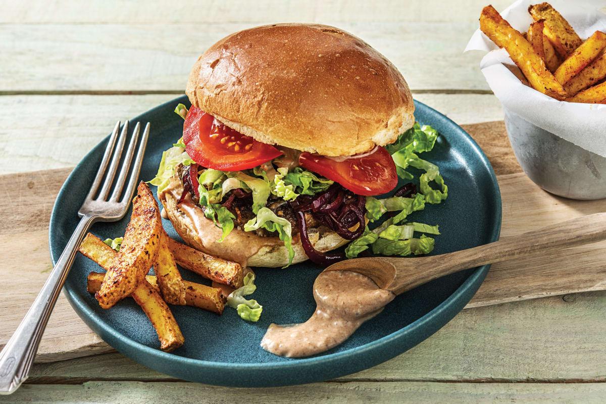 Smokey Beef Cheeseburger