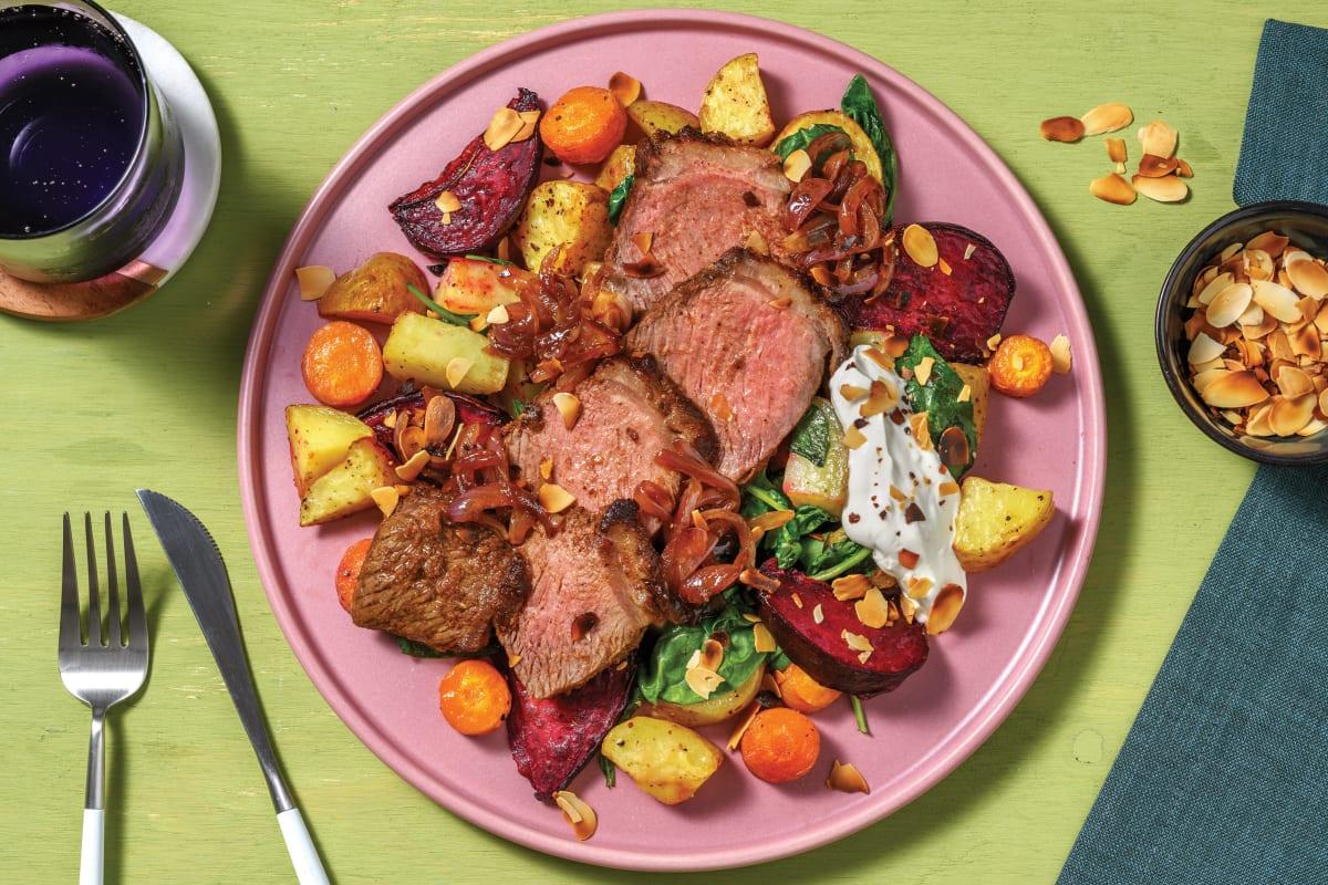 Smokey Lamb & Roasted Beetroot Salad