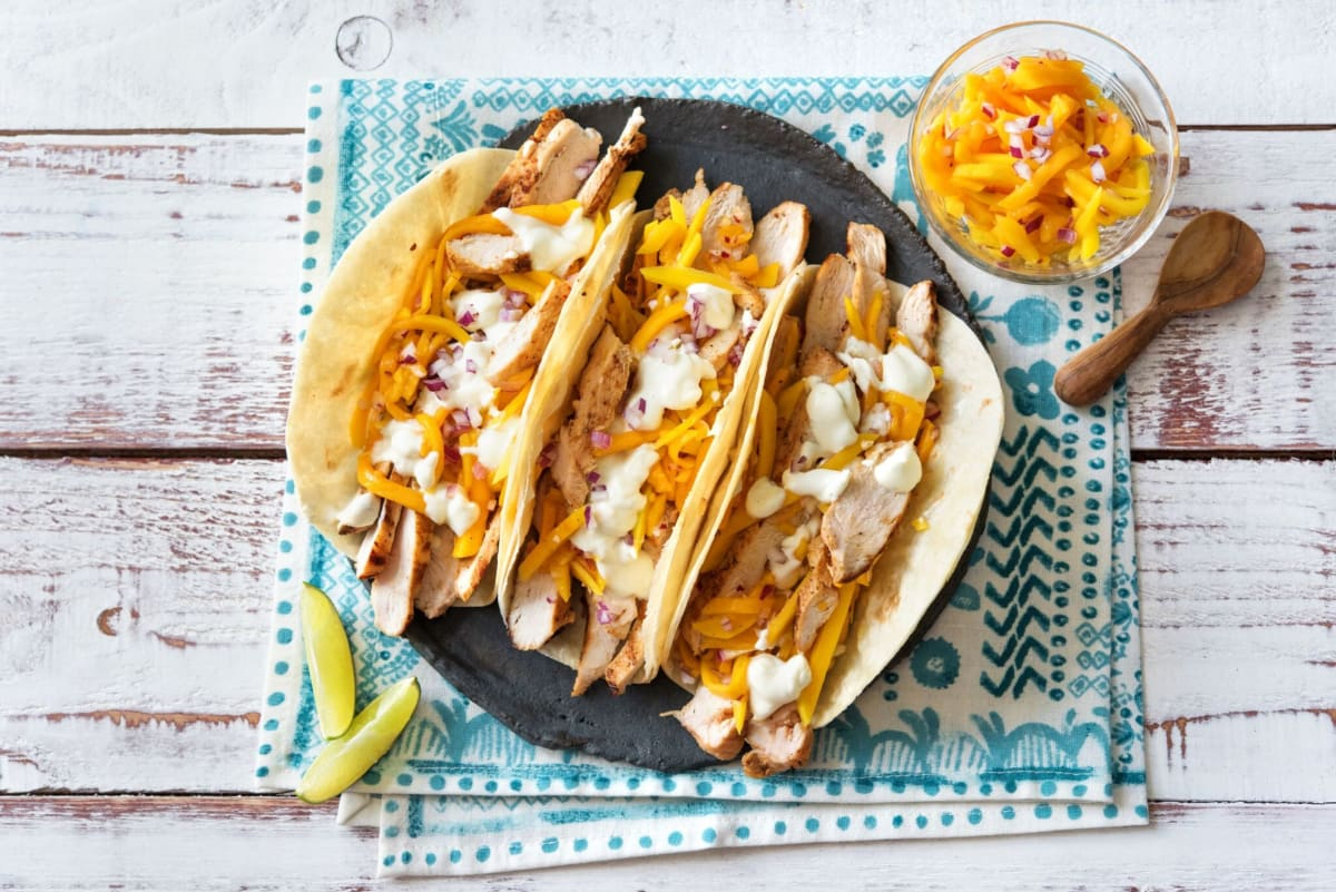 Smoky Adobo Chicken Tacos